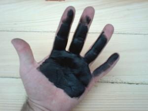 inked hand